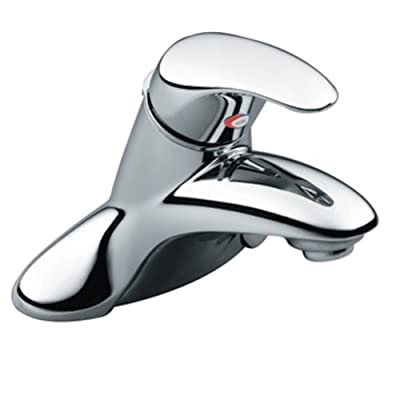 Elegant Moen L Villeta Chrome Single Handle Bathroom Sink Faucet