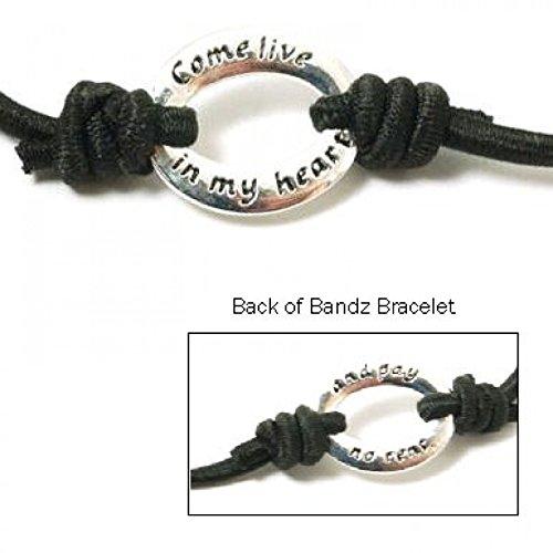 """TOC Bandz 'Come Live In My Heart And Pay n. Rent'15,24 cm (6"""")-Braccialetto con scritta Love, colore: nero"""