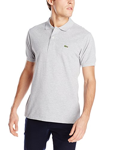 Short Sleeve Classic Chine Pique Polo:Silver Grey Chine(Size L / Eur6)