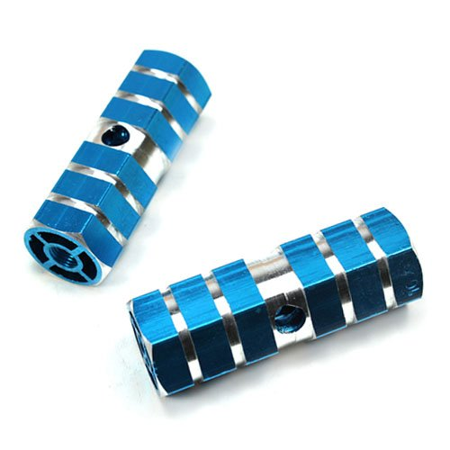 Blue Axle Foot Pegs for Bicycle Bike