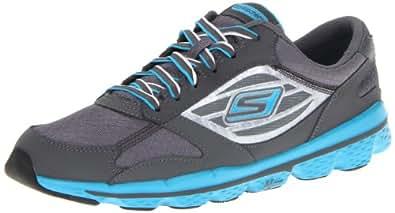 Skechers Performance Women's Go Run Running  Shoe,Charcoal/Turquoise,7 M US
