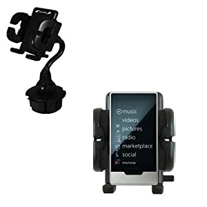 Gomadic Brand Car Auto Cup Holder Mount for the Microsoft Zune HD - Attaches to your vehicle cupholder