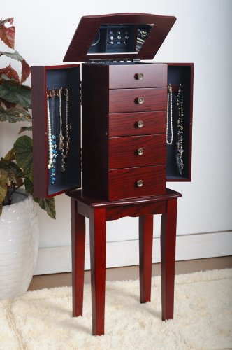Learn More About Cherry Jewelry Armoire Chest