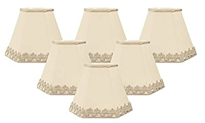 Royal Designs Decorative Trim Hexagon Empire Chandelier Lamp Shade