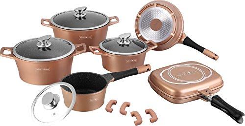 batterie-de-casseroles-professionnelle-royalty-line-en-pierre-de-lave-cod-15-pieces-rl-es1015m-cuivr