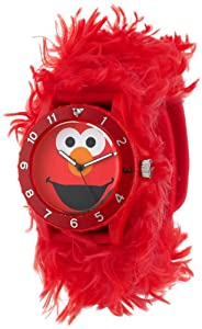 Sesame Street Kids' SW4930EL Elmo Red Furry Slap Watch