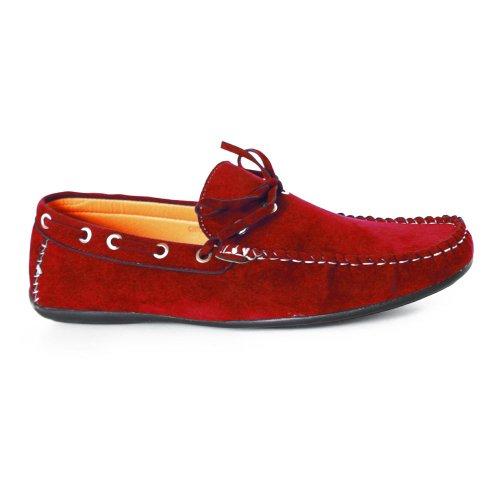 Kebello, Scarpe da barca uomo, Rosso (Rouge), 45 EU