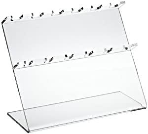 "Bel-Art Scienceware 189610060 Clear Acrylic Pipettor Stand, 12"" Length x 5"" Width x 9-1/2"" Height, 6 Places Pipette"