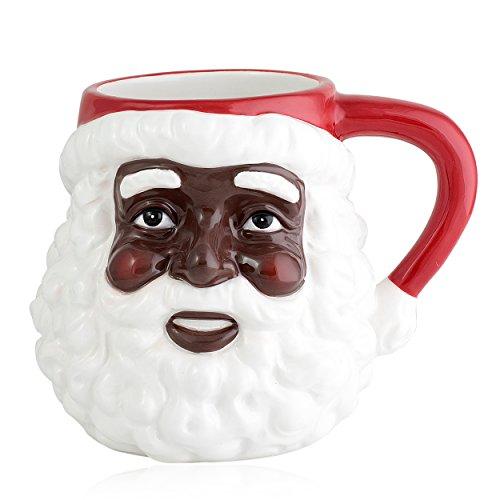 African American Santa Claus Mug (Ceramic - 16 Ounces)