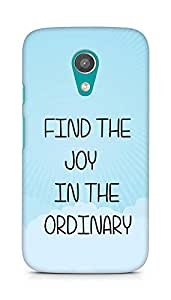 AMEZ find the joy in the ordinary Back Cover For Motorola Moto G2