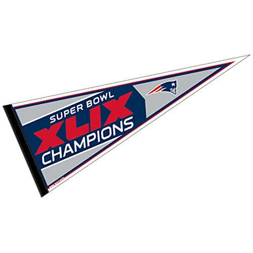 New England Patriots Official NFL 30 inch Super Bowl 49 Champions Pennant by Wincraft (Super Bowl Merchandise Patriots compare prices)