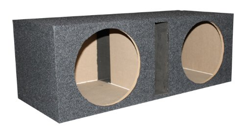 Dual 12-Inch Sub Woofer Box Enclosure Vented Port