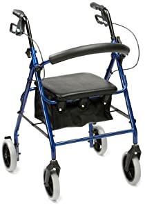 Drive Medical R6RD-23 Lightweight Aluminium Padded Seat Rollator Red (Eligible for VAT relief in the UK)