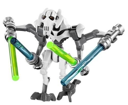 [LEGO STAR WARS MINIFIGURE GENERAL GRIEVOUS WHITE CLONE WARS 4 LIGHTSABERS 75040] (Star Wars General Grievous Child Costumes)