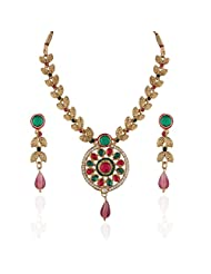 Antique Gold Plated Long Necklace Set
