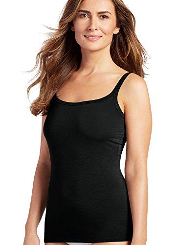 jockey-womens-tops-supersoft-camisole-black-m