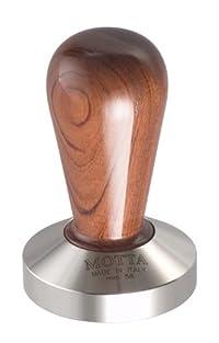 Motta 110 Professional Flat Base Coffee Tamper, 58mm, Bubinga Handle
