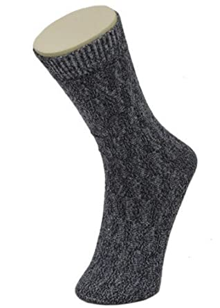 Mens Durable Gray Cotton Heathered Dress Socks