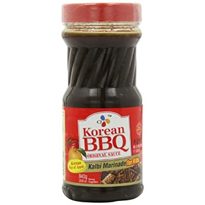 CJ Korean BBQ Sauce, Kalbi, 29.63-Ounce Bottles (Pack of 4) : Korean ...