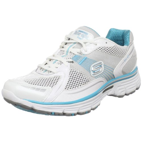 Skechers Women's Ready Set Tone Sports Shoe  White UK 4