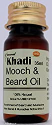 Khadi Mooch and Beard Oil, 35ml ( 100 % natural ) { NO MINERAL OILS }