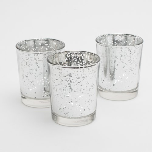 Richland Silver Mercury Votive Candle Holders Set of 72