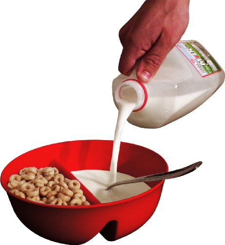 New Anti-Soggy Cereal Bowl From Just Solutions! - Red