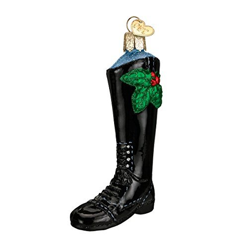 Old World Christmas English Riding Boot Glass Blown Ornament by Old World Christmas