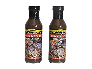 Walden Farms Barbecue Sauce Thick & Spicy Calorie Free 24 oz (2 Bottles) by Walden Farms