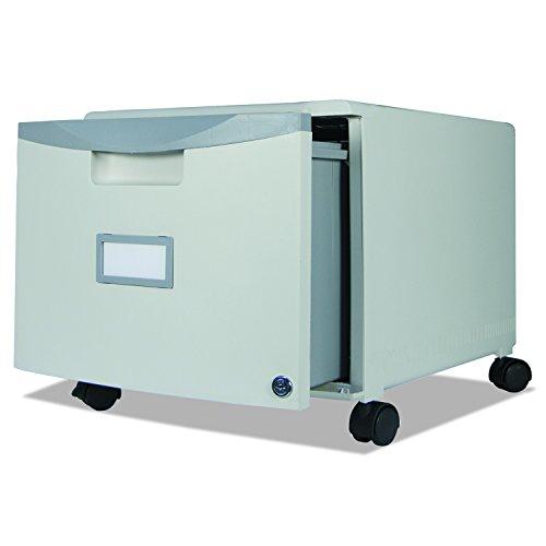 Storex 61254U01C Single-Drawer Mobile Filing Cabinet, 14-3/4w x 18-1/4d x 12-3/4h, Gray (STX61254U01C) (File Cabinet Prime compare prices)