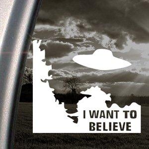 i want to believe alien ufo x files decal car sticker