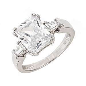 Emerald Cut Cz Engagement Ring (10)
