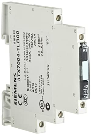 Siemens 3TX7004-1LB00 Interface Relay, Cannot Be Plugged-In, Narrow