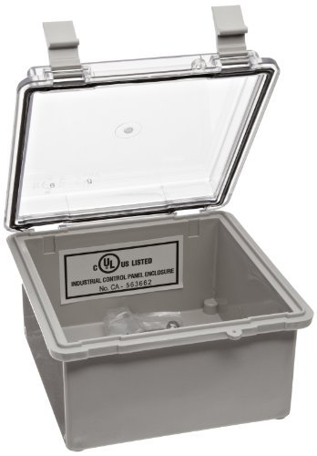 bud-industries-nbb-10260-style-b-plastic-indoor-box-with-clear-door-5-57-64-length-x-5-57-64-width-x
