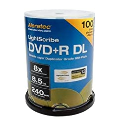 Aleratec Inc - DVD+R DL 100-Pack