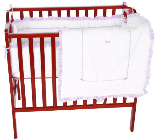 Baby Doll Unique Port-a-Crib Bedding Set, Lavender