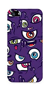 Amez designer printed 3d premium high quality back case cover for Apple iPhone 5s (Eyes pattern purple form)