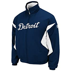 MLB Detroit Tigers Long Sleeve Lightweight Full Zip Thermabase Premier Home Jacket,...