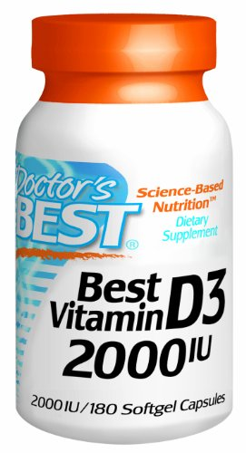 Doctors Best Vitamin D3, 180 Softgels, 2000Iu
