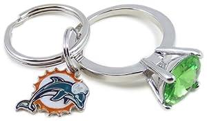 NFL Miami Dolphins Jumbo Bling Keyring