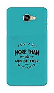 AMEZ you are more than the sum of your mistakes Back Cover For Samsung Galaxy A9