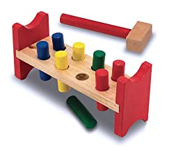 Melissa and Doug Deluxe Wooden Pound-A-Peg
