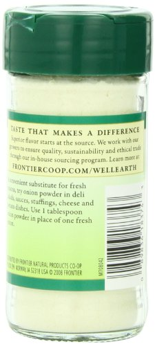 Frontier White Onion Powder, 2.08 Ounce (Pack of 12)