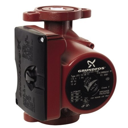Grundfos Ups 15-58 Frc Cast Iron Recirculation Pump With 35 Degree Low Temperatu, Na front-624055