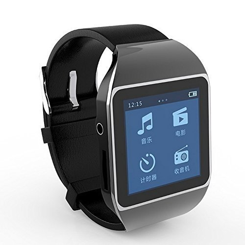Bluetooth Touch Screen MP3/MP4 Player Wireless Sport Watch with FM Radio 8GB BLACK