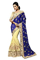 silvermoon women's georgette embroidered free size fancy saree-sm_NMNHA418_blue_free size