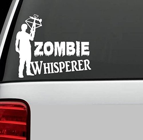 C1037 Zombie Whisperer Daryl Dixon Head Shot Decal Sticker for Car Truck SUV Van Window Wall Laptop Salt Art Walking Dead Zombie
