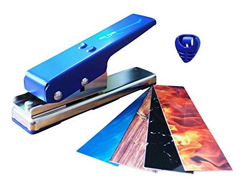 Blue-Smile-Gitarren-Plektrum-Stanzmaschine-mit-BONUS-Individuelle-Plektren-Perfektes-Geschenk-Fr-Gitarristen-Und-Musiker