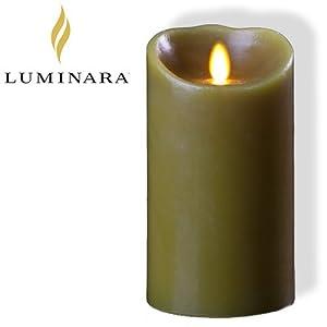 """Luminara 7"""" Sage Battery Operated LED Wax Candle from Luminara"""