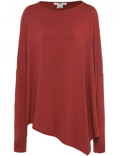 Helmut by Helmut Lang Women's Villous Oversized Top XS Red